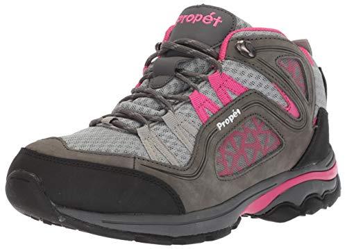Propet Women's Peak Hiking Boot, Grey/Berry, 8 Medium