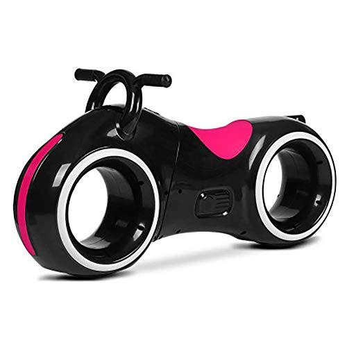 Kleinkind Music Walker Laufrad, Zweirad Space Wheel Scooter, Kindermotorradspielzeug, Starry Sky Scooter für 1-3Jahre alte Kinderkinder,Black,BlueMat
