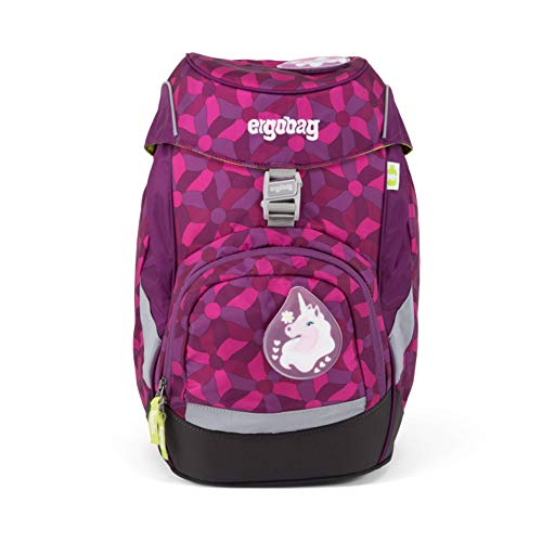 ERGOBAG ergobag Prime Single School Backpack Kinder-Rucksack, 35 cm, 20 Liter, Flower Wheel Purple