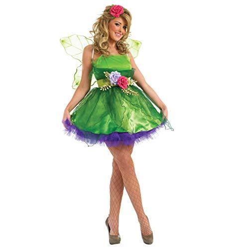 Fun Shack Verde Hada del Bosque Disfraz para Mujeres - S