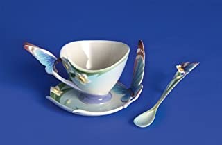 Franz Porcelain Butterfly cup/saucer/spoon set