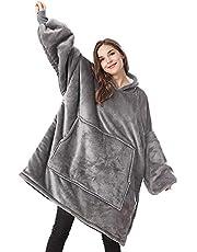 Lushforest Hoodie Blanket,Oversized Super Soft Warm Comfortable Giant Hoody,Fit for Men Women Teens