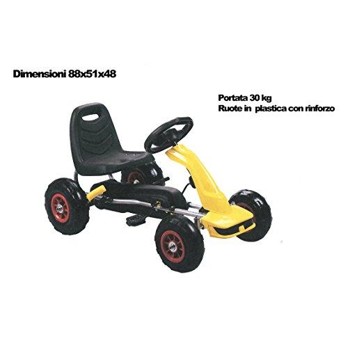 ODG ODG828 - Go Kart a Pedali, Giallo