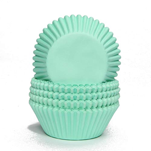Miss Bakery's House® Papierbackförmchen - Standard - Mint - 75 Stück - zum Mitbacken im Ofen