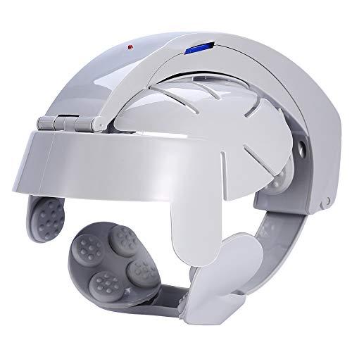 Casco de masajeador de cabeza, masajeador de cabeza eléctrico, puntos de acupuntura de relajación cerebral Dispositivo de masaje de vibración de liberación de estrés con calor, compresión de aire para