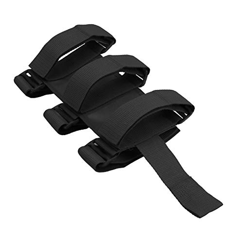 XUNLAN Durable Einstellbare Feuerlöscher-Halter-Auto-Feuerlöscher Berg Strap Auto Roll Bar Feste Fit for Jeep Wrangler TJ JK JL 97-18 Wearable (Color : Black)