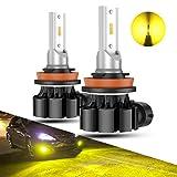 SEALIGHT フォグランプ LED H8 H11 H16 バルブ イエローフォグ黄色 車検対応 12V 1500LM CSPチップ搭載 3000K 50000時間以上寿命 2年保証 (2個入り )