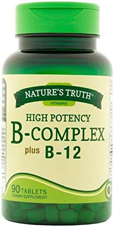 Nature's Truth Opening large release sale High Potency B-Complex Count Max 79% OFF B-12 90 Pa Plus
