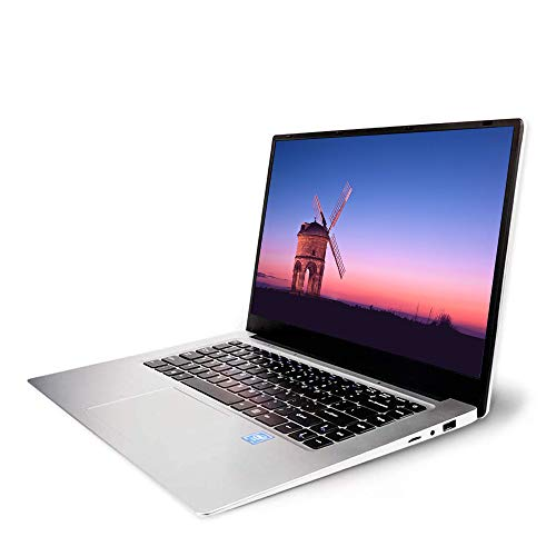 2019 15.6-inch Laptop 8G + 128G Intel celeron J3455 high-Performance Quad-core CPU, 2PCS 4500mAh can Work continuously for 6-8 Hours, WiFi, HDMI, Bluetooth 4.0, Windows 10 (Silver 8G+128G)
