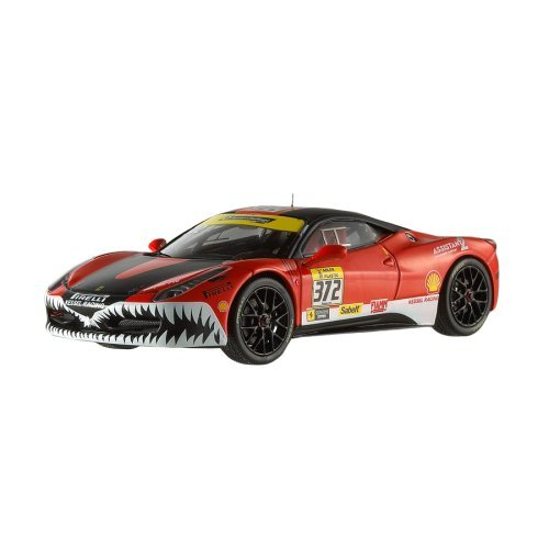 Hot Wheels X5506 Elite - Ferrari 458 Italia Challenge, escala 1/43, Color rojo/negro