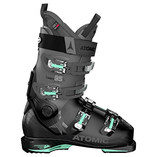 Atomic Damen HAWX Ultra 95 S W Ski-Stiefel, Black/Anthracite/Mint, 40.5 EU