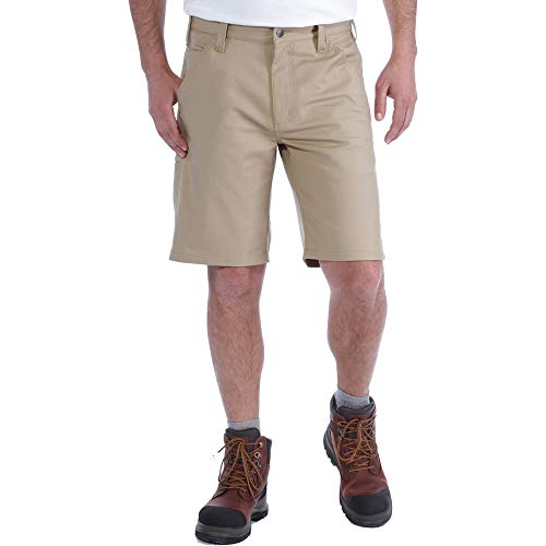 Carhartt Herren Rugged Professional Stretch Canvas Shorts, Dark Khaki, W33