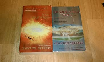 Set of 2 Charles Stross Books (Singularity Sky, Iron Sunrise)