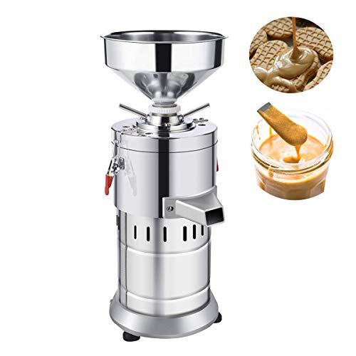 Kommersiell elektrisk nötsmörmaskin 1100 W hemkornkvarn 30 kg/h sesamsåskvarn rostfritt stål automatisk slipmaskin för jordnöt, mandel, cashewnötter och sesam