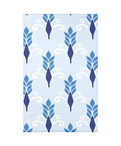 E by Design Tagesdecke mit geometrischem Blumenmuster, 152,4 x 203,2 cm, Azurblau