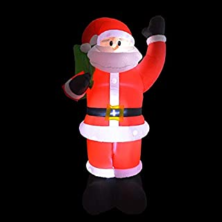 MINIATURE Inflatable Bouncers - Giant Inflatable Snowman Blow Up Toy Santa Claus Christmas Decoration for Hotels Supper Market Entertainment Venues Holiday - by Owl Decoration - 1 PCs