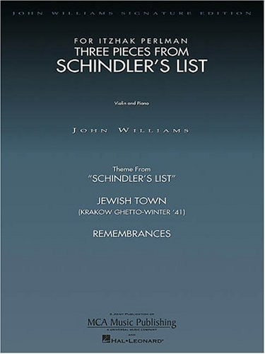 Three Pieces from Schindler's List: Violin and Piano (John Williams Signature Edition - String) by Perlman, Itzhak (1994) Paperback