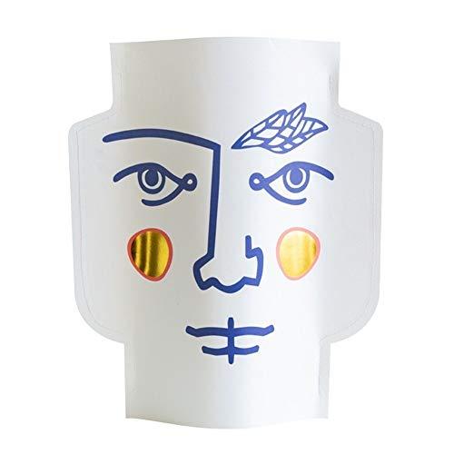 Bloem van het glas Vazen Menselijk Gezicht Art Paper Vase Decoration Living Room Ikebana Vazen Vaas Decoratie voor Verjaardag Wedding (Color : Multi)