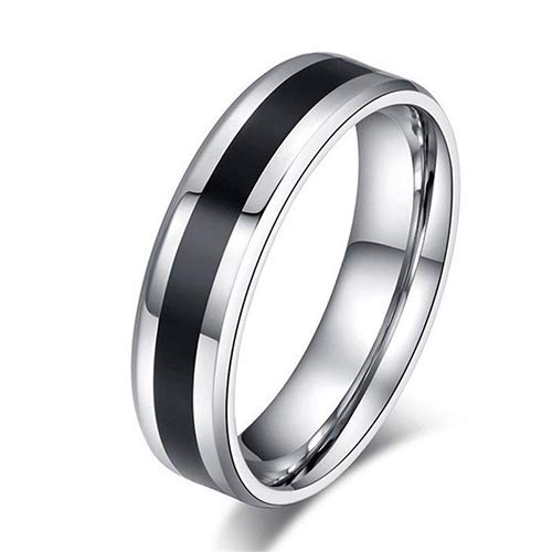 dragonaur-home decor Anillo unisex de titanio negro de acero inoxidable anillo de moda declaración de boda anillo de dedo joyería regalo para hombres mujeres 4 mm US 8