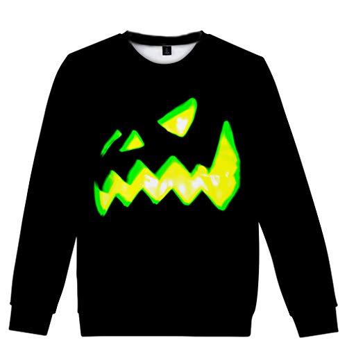 Kolila Halloween Sale Damen Herbst Winter Neueste 3D Halloween Druck Bluse Casual Langarm Tops Sweatshirt Pullover