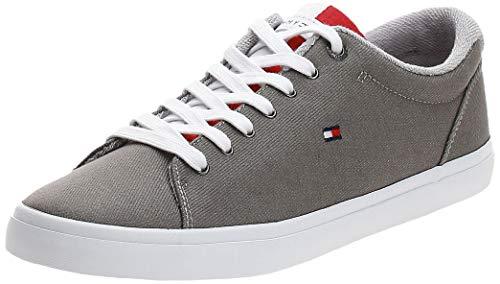 Tommy Hilfiger Essential Long Lace Sneaker, Zapatillas Hombre, Gris (Antique Silver PRT), 42 EU