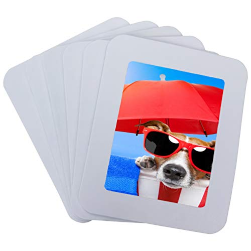 magnetic picture frames Ru Xing 4x5 Magnetic Picture Frames White Magnetic Photo Frames for Refrigerator 4x5 Magnet Frame Thick Strong Magnet Photo Frame Holder White Magnetic Frames for Iron Material Surface Decor 6 Pack