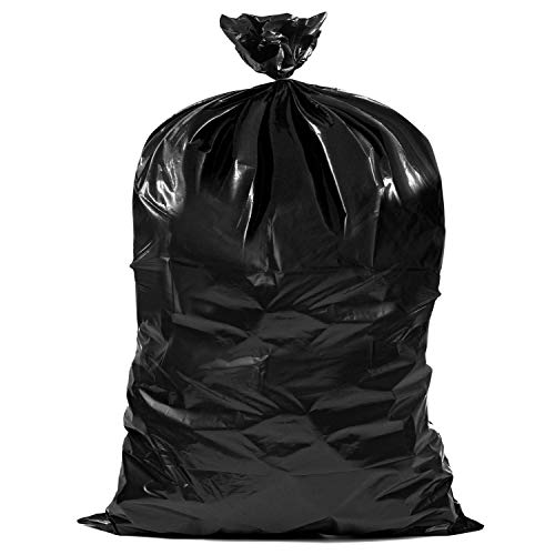 """Plasticplace Contractor Trash Bags 40-45 Gallon │ 3.0 Mil │ Black Heavy Duty Garbage Bag │ 40"""" x 48"""" (50 Count)"""
