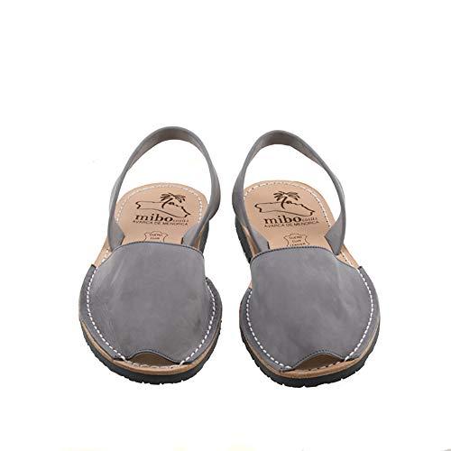 Authentic Avarca Menorquina Sandals Basic Nobuck Gris - Talla 37 EU