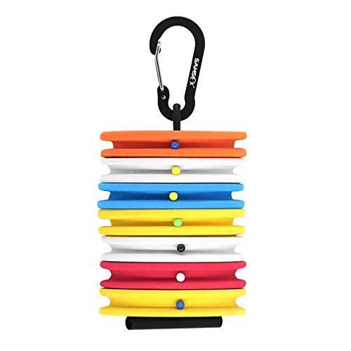 SAMSFX Fishing Tippet Holder with Rigging Foam Fly Fishing Gear for Line Leader Organizer Storage Accessories (Multicolor Rigging Foam)
