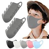 Kinder Mundschutz Maske waschbar 10 Stück, Mund und Nasenschutz Kinder grau, Behelfsmaske, Alltagsmaske, Gesichtsmaske, Stoffmaske, Community Maske