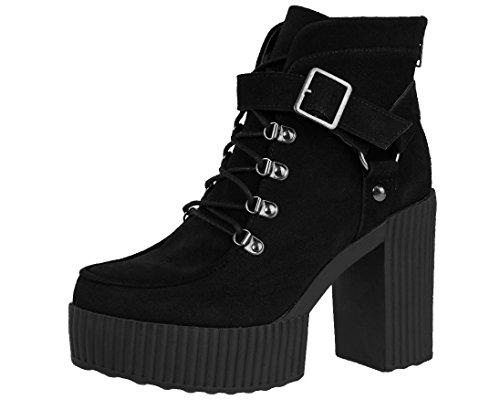 T.U.K. Yuni Bootie Stiefel für Damen, Schwarz (schwarz), 37 EU