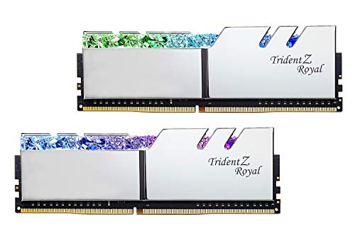 G.Skill Trident Z Royal Series 32GB (2 x 16GB) 288-Pin SDRAM DDR4 4000 (PC4-32000) CL18-22-22-42 1.40V Dual Channel Desktop Memory Model F4-4000C18D-32GTRS