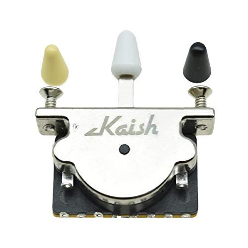 KAISH Heavy Duty 5 Way Guitar Pickup Lever Switch Guitar Pickup Selector Switch for Strat Tele with 3 Plastic Tips