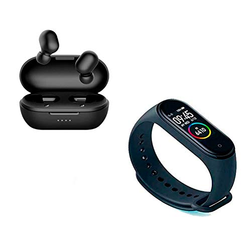 Combo Xiaomi Smartband Mi Band 4 + Fone de Ouvido Bluetooth Haylou GT1