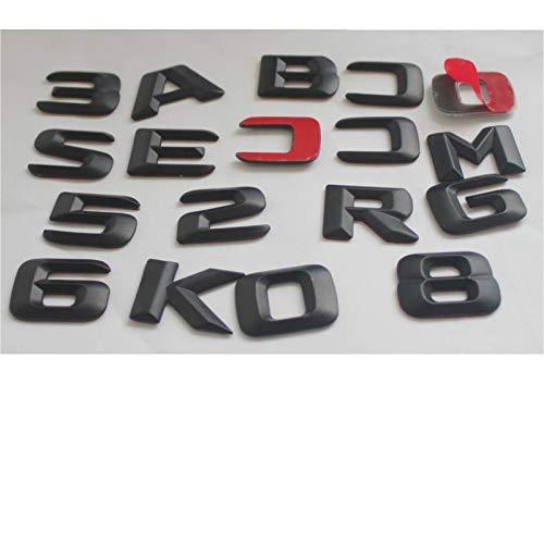 CarWorld Car metal logo, Trunk Rear Letters Number Badge Emblem Emblems Badges,For Mercedes Benz AMG A B C E G S CL SL R CLK GLE ML GLE Class
