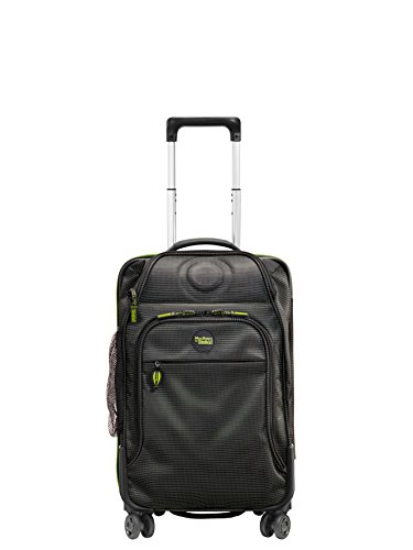 Stratic WomenSuitcase, Black/Green (Multicolour) - 3-9848-55