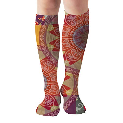 Square Silk Scarf Cushion Greeting Invitation The Arts Compression Socks For Women&Men - Best Medical For Running Athletic Flight Travel Circulation Recovery,19.68 Inch