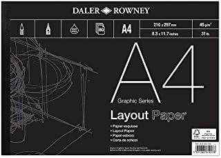 Daler-rowney 45 Gsm A4 80 Sheets Series A Layout Pad