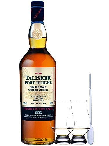 Talisker Port Ruighe Single Malt Whisky 0,7 Liter + 2 Glencairn Gläser und Einwegpipette