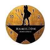 VinMea Reloj de pared decorativo Hamilton divertido reloj de pared redondo silencioso para oficina, cocina, dormitorio, sala de estar, 30 cm