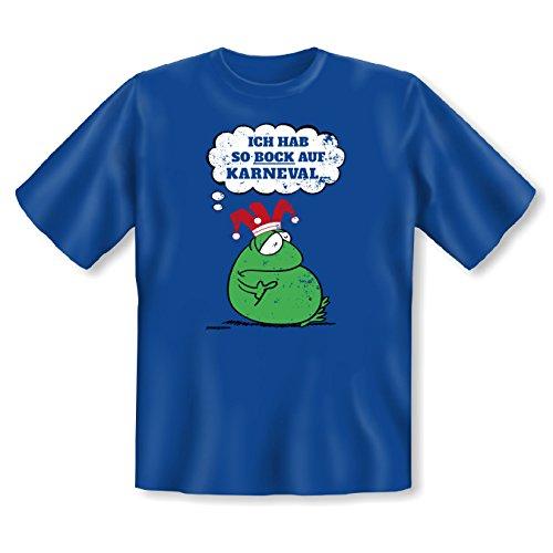 lustiges Karneval Faschings T-Shirt Herren Damen Shirt Karnevalskostüm Faschingsköstüm Verkleidung Kostüm Faschingsfeier Gr: L Farbe: royal-blau