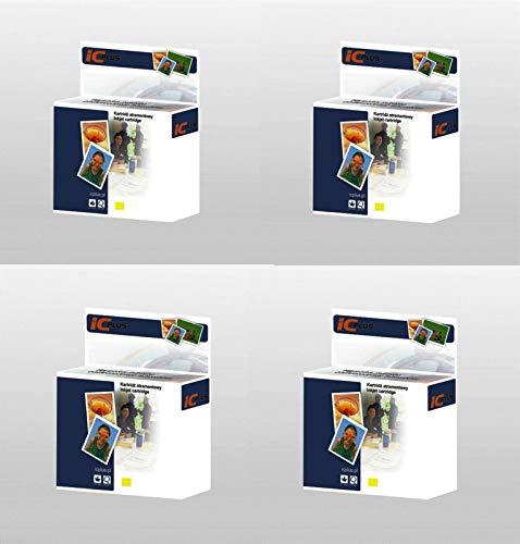 Cartuchos de tinta para Epson Stylus Photo R200, R220, R300, R300, R300, 4 amarillos