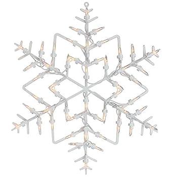 16  White Lighted Snowflake Christmas Window Silhouette Decoration