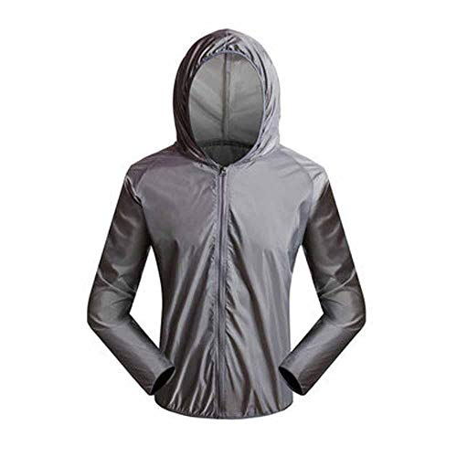 Outdoor Skin Coat Ultraleicht Schnelltrocknend Windbreaker Wasserdicht Atmungsaktiv Strahlenschutz Radfahren Kleidung Radfahren Radfahren Kleidung Gr. XL, 1