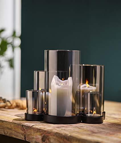 Philippi - LICHTERMEER Windlicht mit tollem Spiegel Effekt - Ambiente für Drinnen oder Draußen