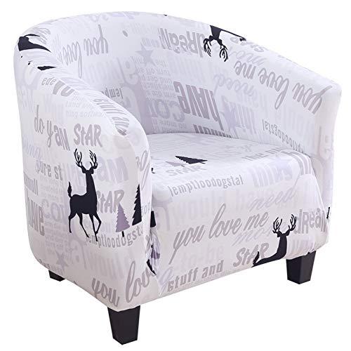 IVYSHION Sesselbezug Stretch Sesselhusse Sesselschoner Sofabezug Sesselbezug Weihnachten Elastisch Stretch Sofahusse Husse Xmas Antirutsch Stretchhusse für Sofa Couch Sessel