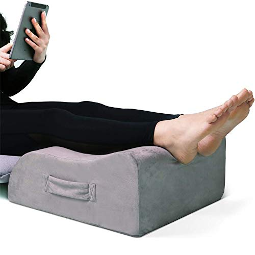 Leg Elevation Pillow, LightEase Memory Foam Leg Elevating Support Wedge Pillow for Sleeping, Reading, Rest, Surgery, Injury, Relieve Back Hip Knee Pain, Improve Blood Circulation, Reduce Swelling