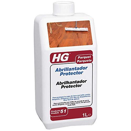 HG 200100130 - Abrillantador Protector para Parquet, Blanco, 1000 Mililitros