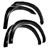 Tyger Auto Black Textured TG-FF8D4138 for 2010-2018 Dodge Ram 2500 3500 (ONLY Fit Fleetside Models with 76.3' & 98.3' Bed) | Paintable Smooth Matte Pocket Bolt-Riveted Style Fender Flare Set, 4 Piece