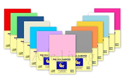 Doppelpack Kinder Jersey Spannbetttuch / Spannbettlaken 70x140 - 2x Grau -100% Baumwolle Rundumgummi